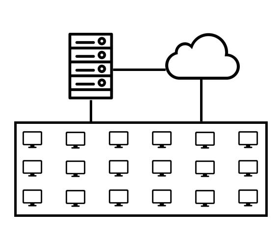 Diagramme représentant un serveur et le Cloud